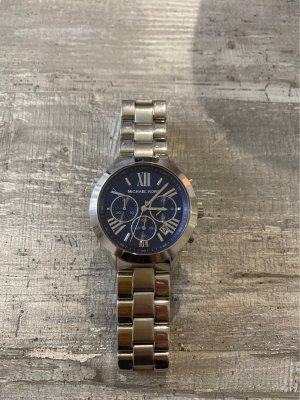 Michael Kors Watch With Metal Strap silver-colored-dark blue