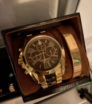 Michael Kors Watch With Metal Strap bronze-colored