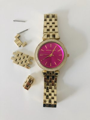 Michael Kors Watch With Metal Strap gold-colored-pink