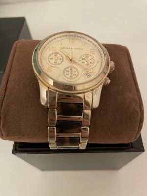 Michael Kors Watch With Metal Strap gold-colored-brown