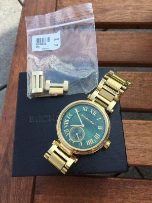 Michael Kors Uhr Gold grün+Strass, Top Zustand, Uhr läuft einwandfrei