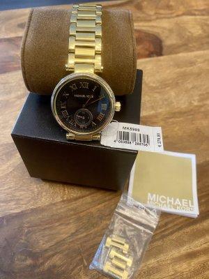 Michael Kors uhr gold schwarz Mk 5989 Np 279€ top