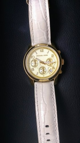 Michael Kors Uhr Gold/weiß