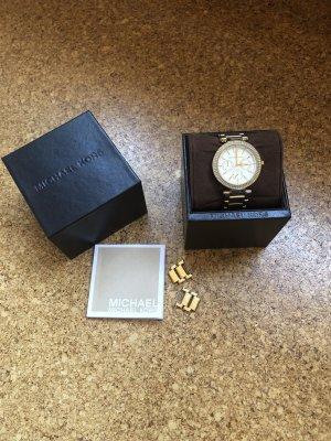 Michael Kors Uhr Gold/weiß Ziffernblatt 38mm