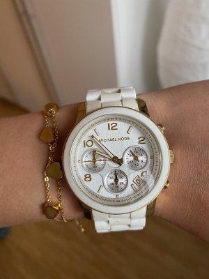 Michael Kors Uhr in Weiß& Gold
