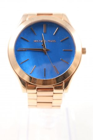 Michael Kors Uhr mit Metallband goldfarben-blau Business-Look