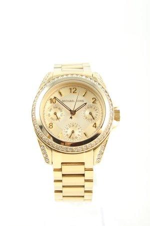 Michael Kors Uhr mit Metallband goldfarben Motivdruck Casual-Look
