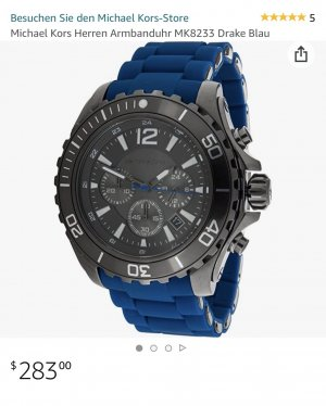 Michael Kors Self-Winding Watch blue-black