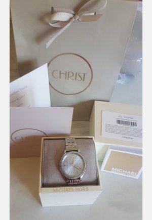Michael Kors Horloge met metalen riempje zilver-lichtblauw