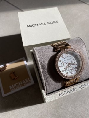 Michael Kors Uhr Perlmutt Zifferblatt Roségold