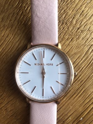 Michael Kors Watch With Leather Strap pink