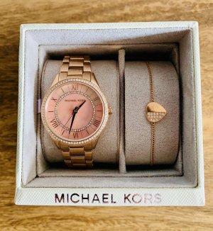 Michael Kors Uhr rosegold Armband Herz roségold Set