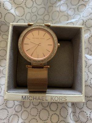 Michael Kors Reloj con pulsera metálica color rosa dorado