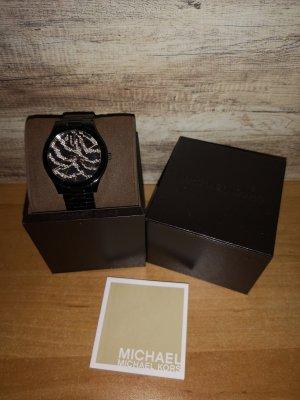 Michael Kors Uhr schwarz rosé wie neu