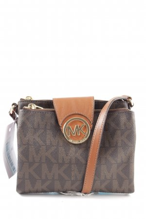 Michael Kors Crossbody bag bronze-colored-light orange printed lettering