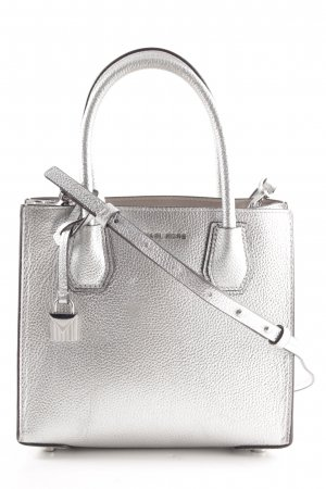 "Michael Kors Umhängetasche ""Mercer MD Messenger Bag Silver"""