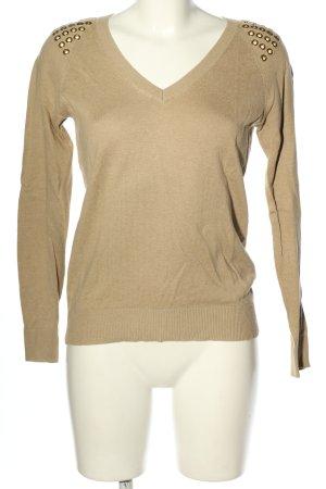 Michael Kors V-Ausschnitt-Pullover creme Casual-Look