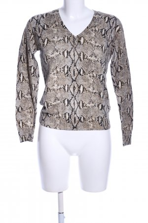 Michael Kors V-Ausschnitt-Pullover Allover-Druck Casual-Look