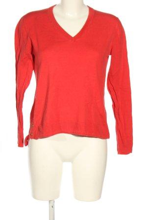 Michael Kors V-Ausschnitt-Pullover rot Casual-Look