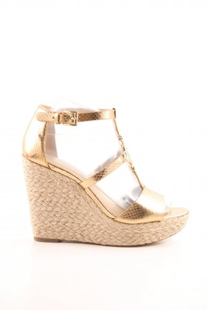 "Michael Kors Sleehaksandalen ""Beth Wedge Gold"""