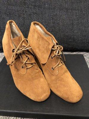 Michael Kors Wedge Booties cognac-coloured-brown