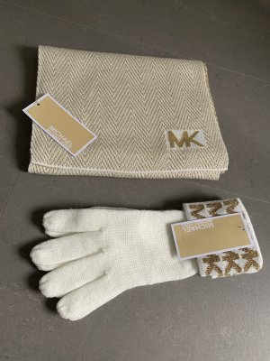 Michael Kors Knitted Scarf gold-colored-natural white