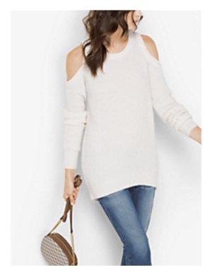 Michael Kors Jersey de lana blanco-color oro Lana