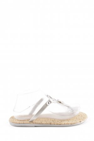 Michael Kors Toe-Post sandals silver-colored-natural white casual look