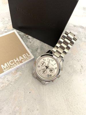 Michael Kurs Uhr MK 5076 silber mit Rechnung Armbanduhr