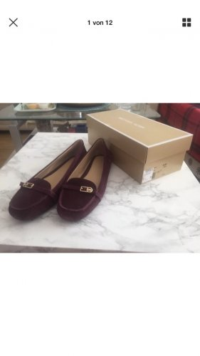MICHAEL Michael Kors Bryce suede loafers Schuhe Plum  US 9.5M  EU 40.5 NEU OVP