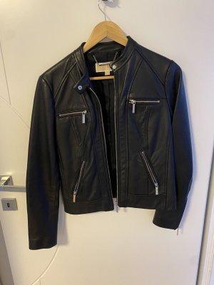 Michael Kors Veste en cuir noir-argenté cuir