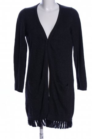 Michaela Feyrsinger Knitted Cardigan black flecked casual look