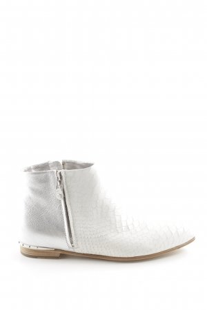 Michalsky Ankle Boots weiß-silberfarben Animalmuster Casual-Look