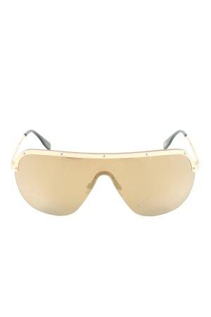 Michalsky ovale Sonnenbrille goldfarben Glanz-Optik