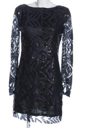 Michalsky Sequin Dress black-silver-colored elegant