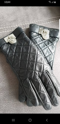 Padded Gloves black-silver-colored
