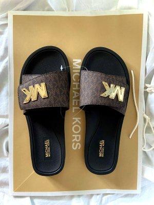 Michael Kors Beach Sandals black-dark brown