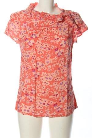 Michele Boyard Kurzarm-Bluse pink-lila Allover-Druck Casual-Look