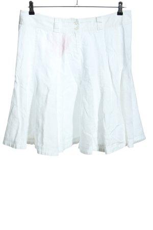 Michele Boyard Jupe en lin blanc style décontracté