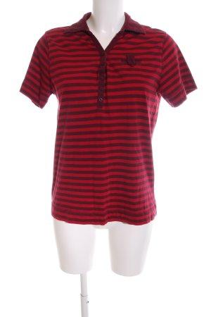 Michele Boyard Polo rouge-noir motif rayé style décontracté
