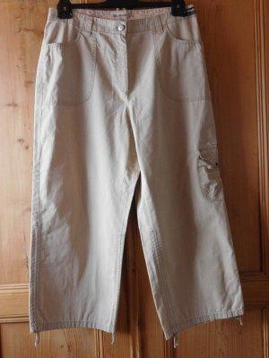 MICHELE: leichte Sommerhose Farbe sand Größe 42, Cargotasche