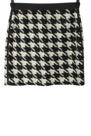 Michèle Jupe tricotée noir-blanc imprimé allover style décontracté