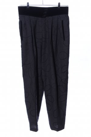 Michèle Wollhose schwarz grafisches Muster Casual-Look