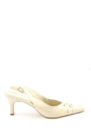 Michelle D Tacones sin talón blanco puro look casual