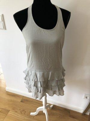 Michelle Mason Seiden Tunika Mini Kleid Top Rüschen Seide US4 hoher NP