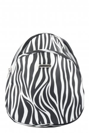 Mick Gwend Paris Mini Backpack white-black allover print casual look