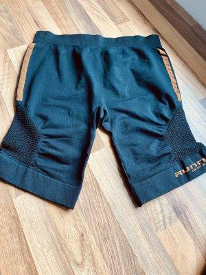 Pantalón corto deportivo negro-naranja