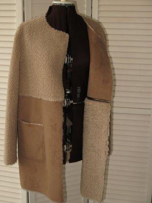 MARCCAIN Veste réversible chameau-marron clair acrylique