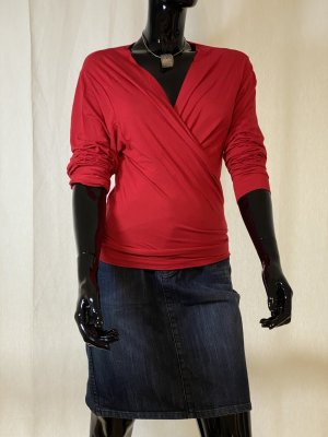 Wraparound Shirt red viscose