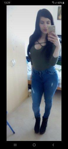middle waist jeans super strech